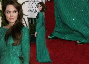 Angelina Jolie w pięknym odcieniu zieleni (FOTO)