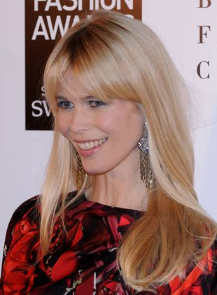 Claudia Schiffer na British Fashion Awards