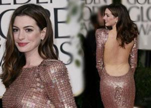 Anne Hathaway błyszczy w sukni od Armaniego
