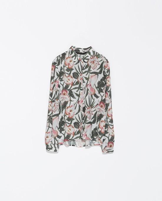 bluzka w kwiaty, Zara, 169 zł