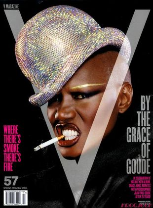"Groźna Grace Jones dla ""V"""