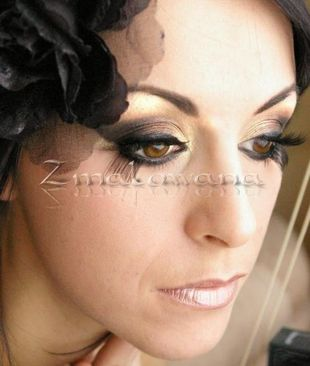 Czerń, brąz  w makijażu