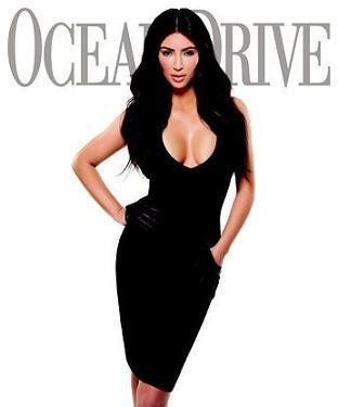 Kim Kardashian na łamach Ocean Drive