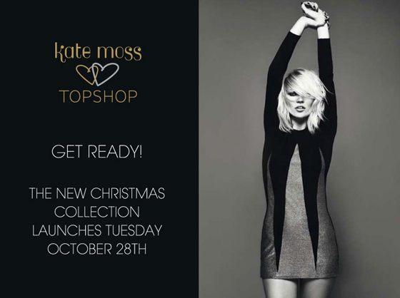 Kate Moss w świątecznej kolekcji Top Shop