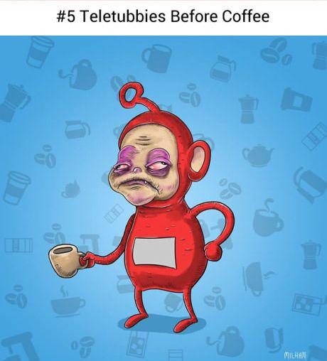Nie tylko my przed pierwszą kawą czujemy się (i wyglądamy) źle