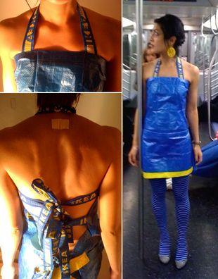 Sukienka zrobiona z torby Ikea?