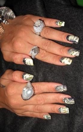 Tandetny manicure gwiazd