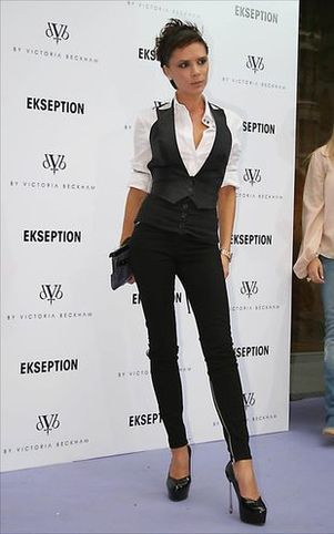 Victoria Beckham w futrze