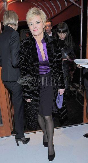 Monika Richardson w płaszczu Baczyńskiej dla Reserved