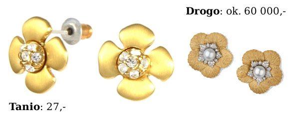Tanio - drogo: kolczyki kwiatki