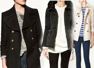 Zara - kurtki i płaszcze na jesień 2011