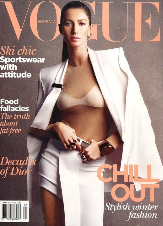 Gisele Bundchen na okładkach Vogue