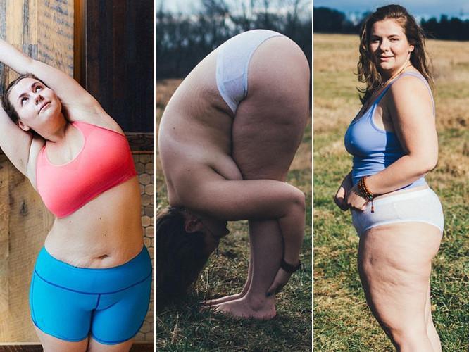 Ta dziewczyna waży ponad 100 kg i jest instruktorką jogi