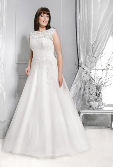 5c4e9e58233fc7 Agnes - suknie ślubne dla puszystych - kolekcja 2015 - zdjęcie 16 ...