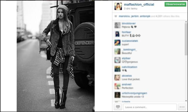 Blogerki modowe na swoich instagramowych profilach (cz. 7)