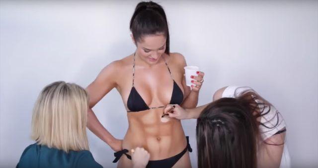 Widziałyście już tutorial z konturowaniem... całego ciała?