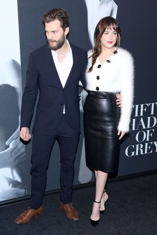 Dakota Johnson i Jamie Dornan na pokazie 50 twarzy Greya