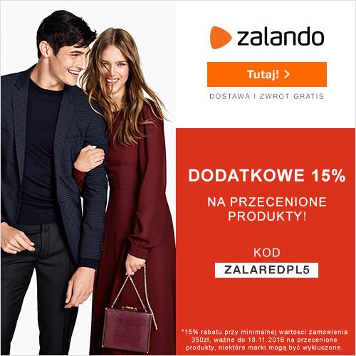 Dodatkowe -15% na przecenione produkty tylko na Zalando.pl
