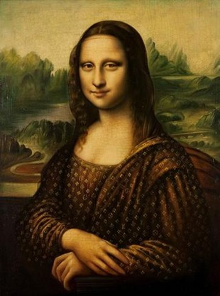 Mona Lisa w sukni od Louisa Vuittona