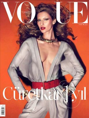 Gisele Bundchen na okładce Vogue Turkey