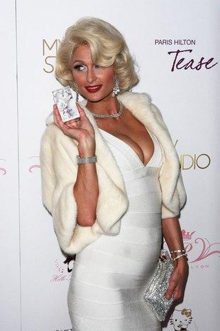 Paris Hilton z twarzą Marilyn Monroe