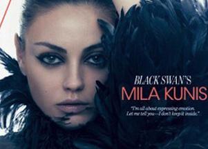 Mila Kunis w biustonoszu i narzutce Chanel (FOTO)