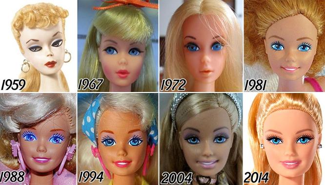 Tak w ciągu 56 lat zmieniała się twarz lalki Barbie