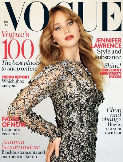 Zmysłowe okładki Jennifer Lawrence
