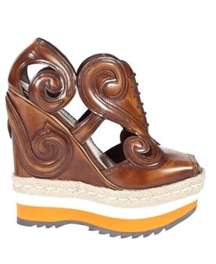 Fantazyjna kolekcja butów Prady