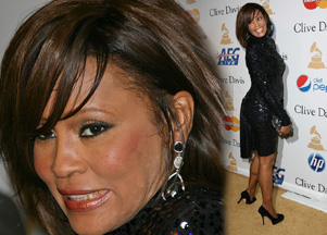 Whitney Houston na imprezie pre-Grammy (FOTO)
