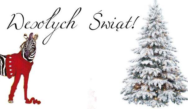 Zeberka życzy Wesołych Świąt
