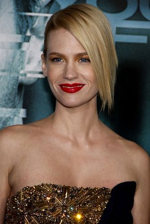 January Jones w sukience od Alexandra McQueena (FOTO)