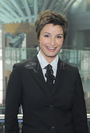 Joanna Brodzik pod krawatem