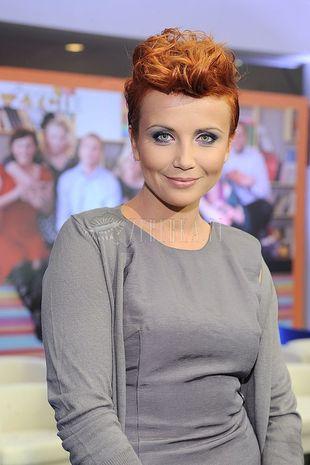Katarzyna Zielińska w ulubionych szarościach