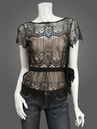 Koronkowa bluzka vintage