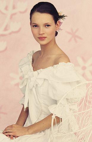 Kate Moss jako młodziutka panna młoda