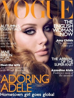 Puszysta Adele na okładce Vogue (FOTO)