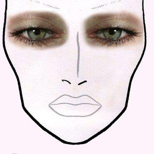 Brązowy, koci makijaż oka