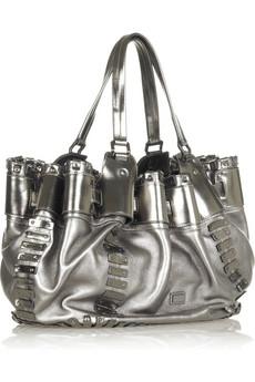 Metaliczna torba na ramię
