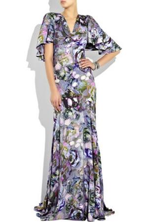Suknia w peonie od McQueena