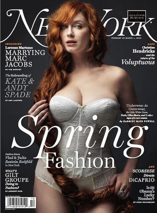 Christina Hendricks na okładce New York Magazine
