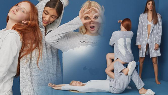 Oysho Blue Night – Młodzieżowe, przeurocze, zabawne piżamki na zimę 2016