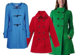 Kolorowe płaszcze na jesień i zimę 2011/2012