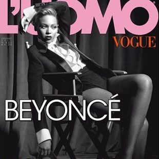 Beyoncé dla L'Uomo Vogue w męskim stylu