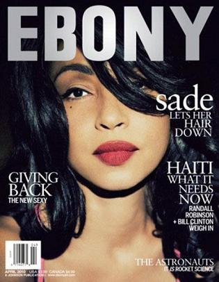 Piękna Sade Adu na okładce magazynu Ebony