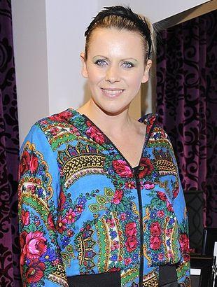 Maria Sadowska w bluzie własnego projektu (FOTO)