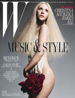 Christina Aguilera naga w W Magazine