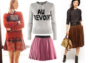 Trend: spódnica i sweter