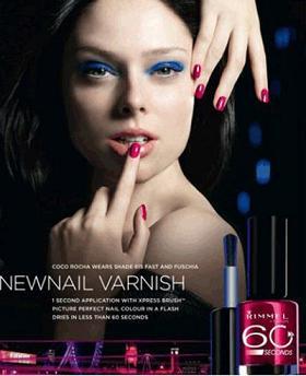 Coco Rocha w kampanii reklamowej Rimmela