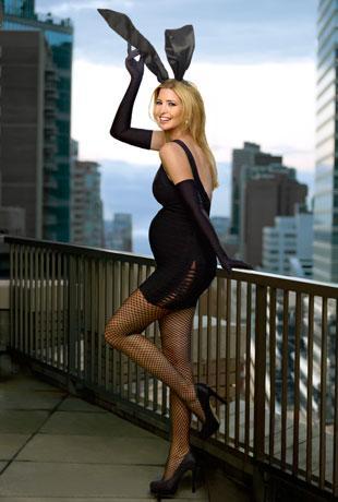 Ciężarna Ivanka Trump jako króliczek Playboya